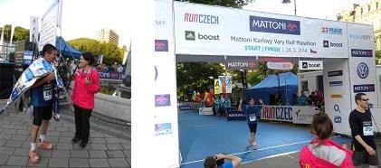 קו הסיום בחצי מרתון בצ'כיה